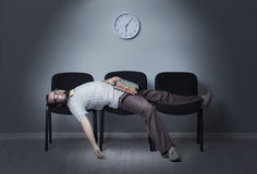 Last job seeker waiting interview Stock Photos