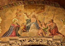 Last Judgement mosaic from Saint Mark Basilica in Venice Royalty Free Stock Photography