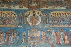 The Last Judgment at Voronet Monastery Royalty Free Stock Photography