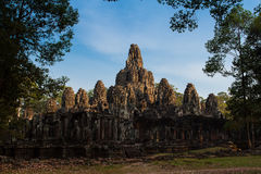 Light at Bayon Temple. Evening light at the Bayon Royalty Free Stock Images