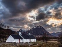 Last Light on Blackrock Cottage, Glencoe Royalty Free Stock Photography