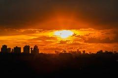Last light at city of Bangkok Royalty Free Stock Photography