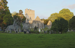 Last light of day at Muckross Abbey near Killarney Stock Photos
