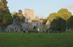 Last light of day at Muckross Abbey near Killarney stock photos