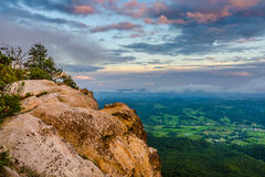 Last light of the day, White Rocks Overlook Royalty Free Stock Images