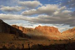 Last light on desert Stock Images