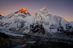 Last Light On Everest Royalty Free Stock Photo