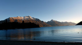 Last Light. Lake Wakatipu.NZ Stock Photos