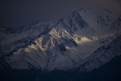 The last light at Leh Ladakh. Sunset on the mountain at Leh Ladakh Royalty Free Stock Photo