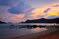 Last light at seaside Stock Image