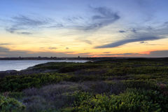 Last light sundown at Greenhills Beach NSW Australia Stock Image