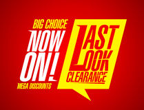 Last look clearance. Stock Photo