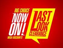 Last look clearance. Stock Photo