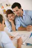 Last meeting in office before construction Royalty Free Stock Photo