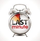 Last minute - Alarm Clock. Last minute concept - Alarm Clock royalty free illustration