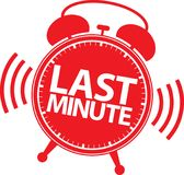 Last minute alarm clock icon, vector Royalty Free Stock Photos