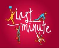 Last minute businessmen Stock Images