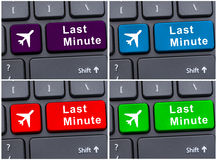 Last minute button on computer keyboard. In different colors Royalty Free Stock Photo