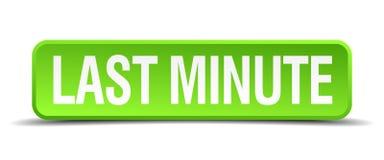 Last minute button. Last minute square 3d realistic isolated web button. last minute vector illustration