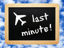 Last Minute chalkboard Stock Image