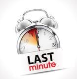 Last minute concept - Alarm Clock vector illustration
