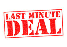 LAST MINUTE DEAL Royalty Free Stock Photography