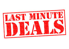 LAST MINUTE DEALS Royalty Free Stock Photo