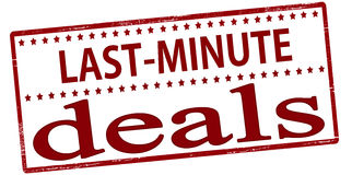Last minute deals Royalty Free Stock Images