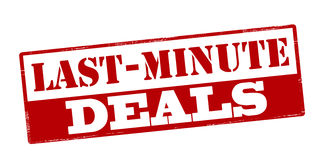 Last minute deals Royalty Free Stock Image