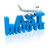 Last minute flight Royalty Free Stock Photo
