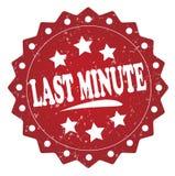 Last minute grunge label, sticker Stock Photography