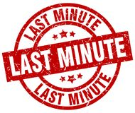 Last minute stamp. Last minute grunge vintage stamp isolated on white background. last minute. sign stock illustration