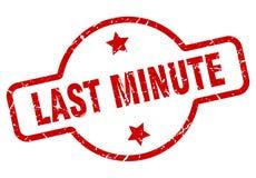 last minute stamp vector illustration