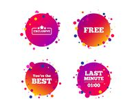 Last minute icon. Exclusive special offer. Vector royalty free illustration