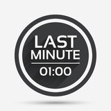Last minute icon. Hot travel symbol. Stock Images