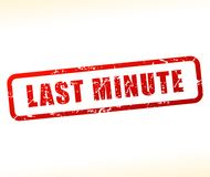 Last minute icon Royalty Free Stock Photo