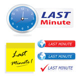 Last minute icons & buttons Stock Photography
