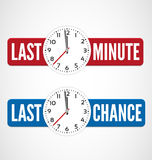 Last minute labels Royalty Free Stock Image