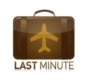 Last minute luggage airplane Stock Photography