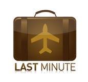 Last minute luggage airplane. Illustration design over white royalty free illustration