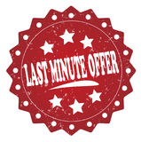 Last minute offer cost grunge stamp Royalty Free Stock Image