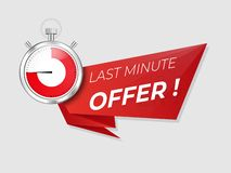 Last minute offer promo . Sale timer  countdown . royalty free illustration