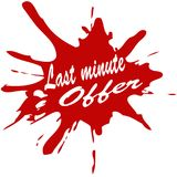 Last minute offer. Stamp with text last minute offer inside,  illustration Royalty Free Stock Image