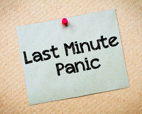 Last Minute Panic Stock Photos