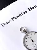 Last Minute for a Pension. Two minutes to midnight for your pension plan Royalty Free Stock Images