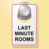 Last Minute Rooms Indicates Place To Stay And Finally Stock Photo