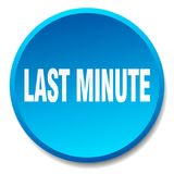 Last minute button. Last minute round button isolated on white background. last minute vector illustration