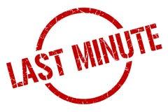 Last minute stamp. Last minute round grunge stamp. last minute sign. last minute vector illustration