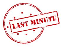 Last minute. Rubber stamp with text last minute inside,  illustration Royalty Free Stock Photos