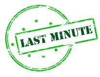 Last minute. Rubber stamp with text last minute inside,  illustration Stock Photos